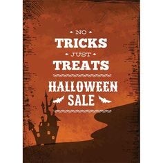 Free Vector Halloween sale poster design template illustration