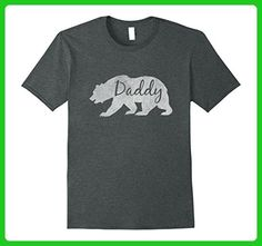 Mens Daddy Bear Vintage Grandfather Dad Gift Father's Day T-Shirt XL Dark Heather - Holiday and seasonal shirts (*Amazon Partner-Link)