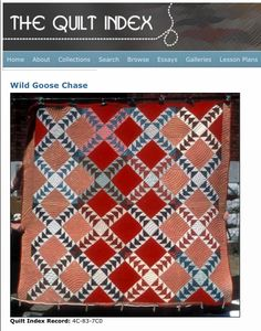 Addie Sims Hardiman made this Wild Goose Chase quilt around 1905. The quilt was hand and machine pieced and hand quilted ... view this quilt on Quilt Alliance's blog to read more about it's history, design and construction http://quiltalliance.wordpress.com/2013/07/31/wild-goose-chase/