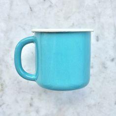 Enamelware Mug - Turquoise #gifts #enamelware #retro #mug