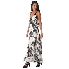 Cami maxi dress in abstract print - All My DIBS - 1