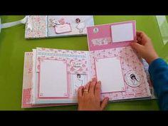 Álbum, libro de firmas y maletín para Primera Comunión de niña - YouTube