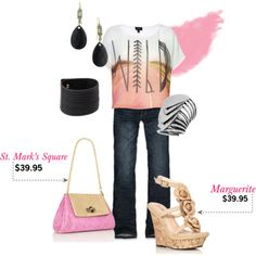 Wild and Classy.....doesn't that express me?? Don't like the pink purse so much!