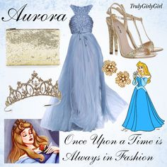 Disney Style: Aurora created by trulygirlygirl Disney Character Outfits, Disney Princess Outfits, Disney Themed Outfits, Character Inspired Outfits, Disney Bound Outfits, Movie Outfits, Disney Princesses, Disney Inspired Dresses, Disney Wedding Dresses