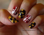 Maryland Pride manicure