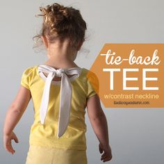 Upcycled Tie Back Tee from It's Always Autumn - Crazy Little Projects