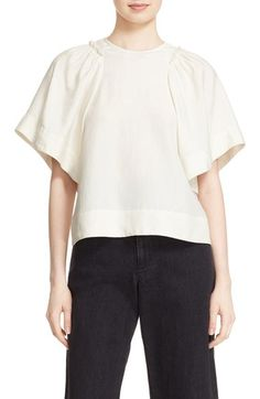 Rachel Comey 'Ravine' Bell Sleeve Silk & Linen Top available at #Nordstrom