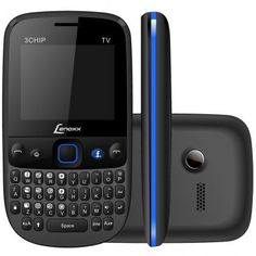Lenoxx CX-912 Preto e Azul – Celular Desbloqueado -Tri Chip, Câmera, Tela 2, Teclado Qwerty, Acesso às redes Sociais, Bluetooth, Rádio FM e TV R$ 99,00 ou 4x de R$ 24,75