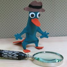 Perry the Platypus - another activity/favor type of idea.  (Also stocking stuffer!)  You could use a blanket stitch around the edges & do more embroidery versus gluing.