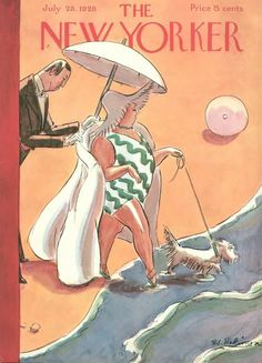 The New Yorker Cover - July 1928 Poster Print by Helen E. Hokinson at the Condé Nast Collection The New Yorker, New Yorker Covers, Old Magazines, Vintage Magazines, Magazine Art, Magazine Covers, Vogue Magazine, Illustrations And Posters, Vintage Illustrations