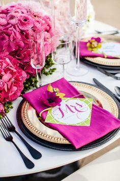 Wedding reception tablescape Pam Scott Photography via CeremonyBlog.com