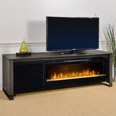 Howden Electric Fireplace Media Console in Weathered Espresso - GDS50G-1429CC