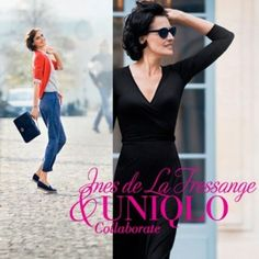 Former Chanel model and Karl Lagerfeld's muse, Ines de La Fressange, has teamed up with Uniqlo to create a Parisian inspired collection available in their store this month. Uniqlo, News Bulletin, Chanel Model, Ziggy Stardust, Karl Lagerfeld, Parisian, Muse, Inspired, Street