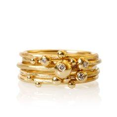 Marianne Dulong - Delphis ringe, sæt DEL3_A3050 - Delphis - Ringe - Smykker