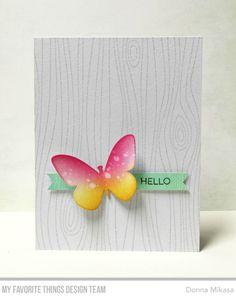 card butterfly butterflies MFT Whimsical Woodgrain Background stamp, Essential Sentiments Stamp Set, MFT Flutter of Butterflies Die-namics - Solid Die-namics - Donna Mikasa Bee Cards, Cards Diy, Mft Stamps, Butterfly Cards, Animal Cards, Card Maker, Card Sketches, Watercolor Cards, Sympathy Cards