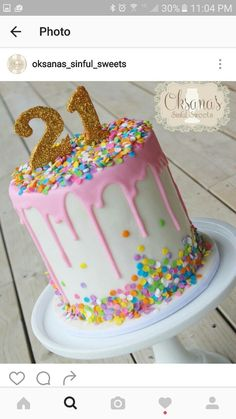 Beautiful Picture of Birthday Cake Ideas . Birthday Cake Ideas How To Make A Drip Cake Plus 50 Amazing Drip Cake Ideas To Inspire Birthday Drip Cake, 21st Birthday Cakes, Birthday Cake Decorating, Birthday Cookies, Birthday Cakes For Girls, Birthday Ideas, 21 Bday Cake, Girls 21st Birthday Cake, Amazing Birthday Cakes