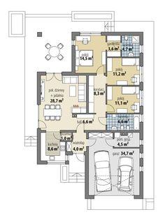 Simple House Plans, Dream House Plans, Bungalow, Casa Top, Indian House Plans, Indian Homes, Craftsman House Plans, Planer, Floor Plans