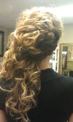 Natural Curly Hair Updo--easy for a different look