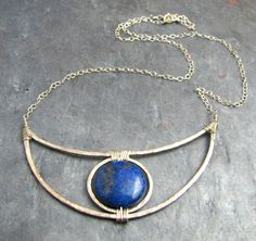 Cobalt Blue Round Lapis Lazuli Stone Centered by TheGemGypsy, $125.00