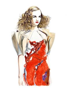 Illustration by Lidia Luna: Bottega Veneta FW13