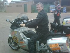 Steve Andrews (And Winston) on the Black Dog Ride to the Red Centre 2010