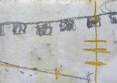 """oliver-voelkening:  """"Oriolo by night"""", Zeichnung auf Papier, paper, 20 x 15cm."""