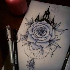 #skizze #tattoo #disney #rose