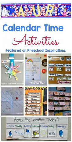 Calendar Time Activities and Ideas that have been modified to be developmentally appropriate for young children. #preschool #prek #preschoolcalendar #preschoolinspirations #preschoolplanning #earlychildhoodeducation