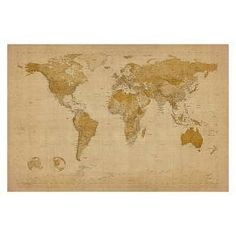 Great big canvas michael tompsett poster print entitled world map with weathered grey color reclaimed wood frame find this pin and more on home improvement by mcollins4228 world map art gumiabroncs Images