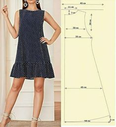 Dress Sewing Patterns, Clothing Patterns, Costura Fashion, Sleeves Designs For Dresses, Clothing Hacks, Fashion Sewing, Simple Dresses, Pattern Fashion, Diy Clothes
