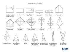 Napkin folding - bunny