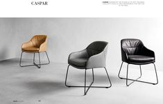 Shop the Caspar Chair and more contemporary furniture designs by Wendelbo at Haute Living. Scandinavian Style, Chair Design, Furniture Design, Room Additions, Sofa, Desk With Drawers, Modern Chairs, Contemporary Furniture, Seat Cushions