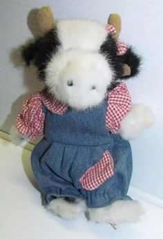Moo Cute Bessie Lou August Cow Boyds Collectible