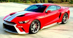 Zero to 60 Designs creates a custom Mustang for the 2016 SEMA show that takes major design cues from the Ford GT supercar. Ford Mustang Gt, Ford Gt, New Mustang, Mustang Cars, Mustang Tuning, Audi Concept, Concept Cars, Autos Ford, Cars Vintage