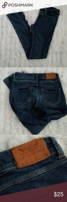 "Zara Skinny Jeans Ultra skinny jeans with a touch of stretch. Waist 12"" Rise 7 1/2"" Inseam approx 30"" Zara Jeans Skinny"