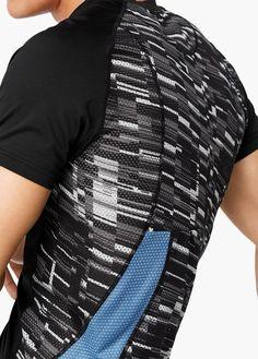Camiseta técnica manga corta running | MANGO MAN