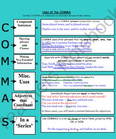 Comma Usage  product from TIPS4Teachers on TeachersNotebook.com