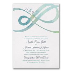 40% Off Wedding Invitations and Save the Dates  |  Infinity - Invitation