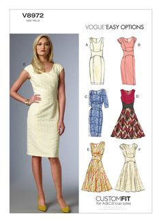 V8972 | Vogue Patterns | Custom Cup Sizes