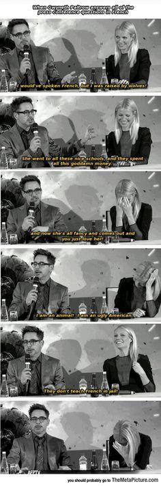 Robert Downey Jr. Doesn't Speak French