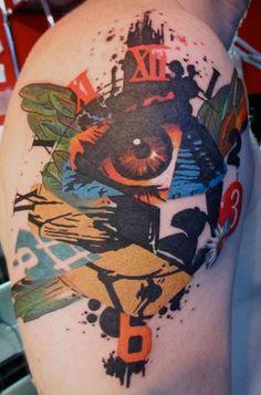 Keep your eye on the clock! #InkedMagazine #tattoo #tattoos #Inked #Ink #eye #clock
