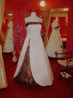 @Allison Lombardi. This is what you are looking for right??? camouflage wedding dresses