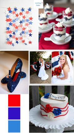 Happy 4th of July! Red,White and Blue Wedding Palette