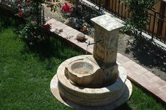 #garden #fountain #waterfountain #patio #limestone #stone