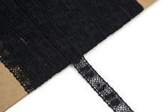 Black Cotton Lace Trim Narrow 9 Yards NLT00101 by felinusfabrics