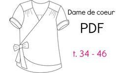 """Patron """"Dame de Coeur"""" - PDF (34-46)                             Chut Charlotte !"""