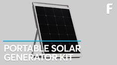 This all-in-one mobile solar generator collects and stores usable energy.