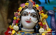 To view Radha Close Up Wallpaper of ISKCON Chowpatty in difference sizes visit - http://harekrishnawallpapers.com/srimati-radharani-close-up-wallpaper-026/
