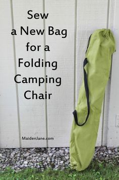 Sew a New Bag for a Folding Camping Chair - DIY - Tutorial