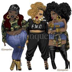 Black Love Art, Black Girl Art, My Black Is Beautiful, Black Girls Rock, Art Girl, Beautiful Artwork, African American Artwork, Plus Size Art, Black Art Pictures
